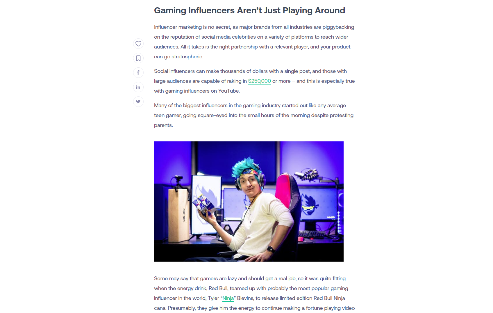 Article for a Gaming Niche Website